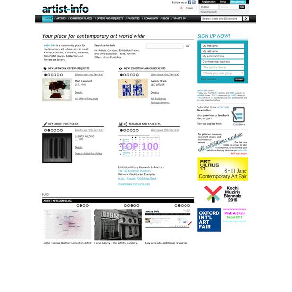 artist-info.com Homepage